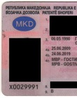 Driver licence card